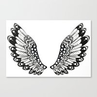 wings Canvas Prints featuring wings by Li-Bro
