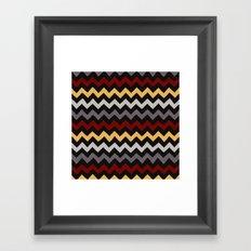 Colorful Chevron 3 Framed Art Print
