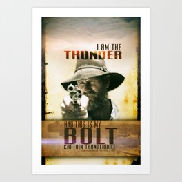 Thunderbolt Movie-I Am The Thunder Art Print