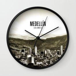 Medellin Colombia Wallpaper Wall Clock
