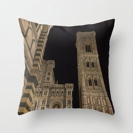 piazza del duomo cathedral square Firenze Tuscany Italy Throw Pillow