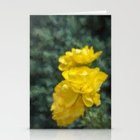 persian Stationery Cards featuring Persian Buttercups by Third Hand Art
