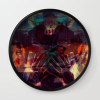 scary Wall Clocks featuring Scary by WDeluxe