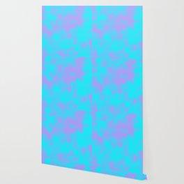 Cotton Candy Clouds - Purple & Blue Wallpaper