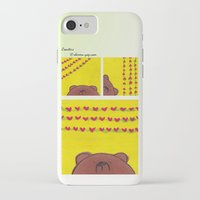 coasters iPhone & iPod Cases featuring Grumpy Bear - Coasters by Shereen Yap