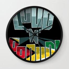 Guyana Pride Loud N Proud Wall Clock