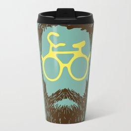 Hipster Biker Travel Mug