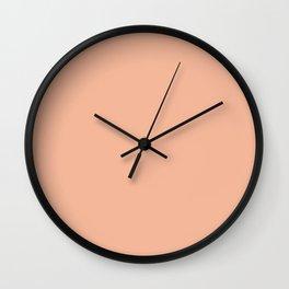 Simply Solid - Peach Quartz Wall Clock