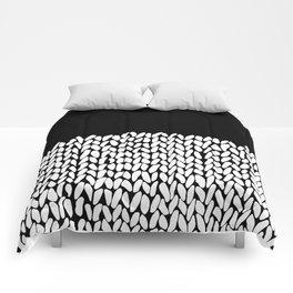 Half Knit  Black Comforters