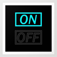 On Off Art Print