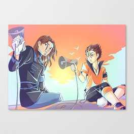 Haikyuu!! love is war crossover Canvas Print