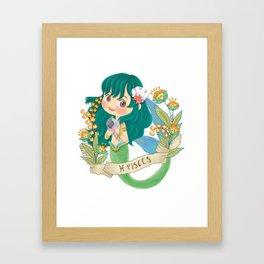 PISCES my cute horoscope Framed Art Print