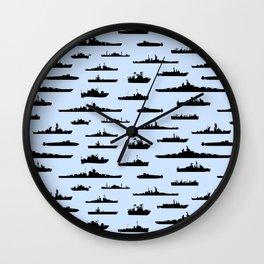 Battleship // Light Blue Wall Clock