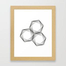 crazy hexagons Framed Art Print