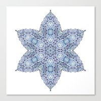 snowflake Canvas Prints featuring Snowflake by Awispa