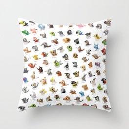 Marathon Animals Throw Pillow