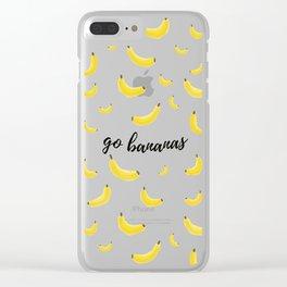Go Bananas Clear iPhone Case