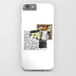 Creative equality iPhone Case
