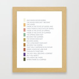Reminder of Such Things Framed Art Print