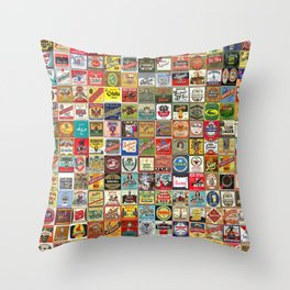 Beer Montage Throw Pillow
