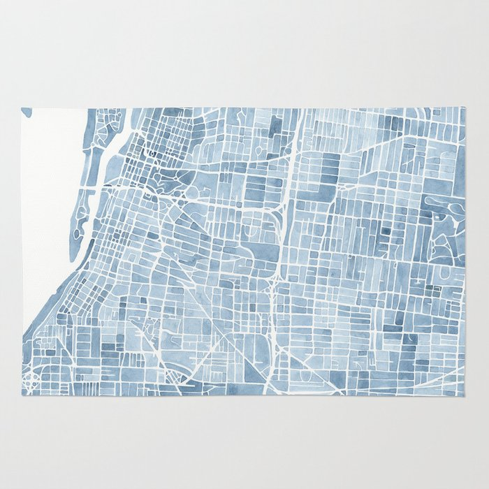 Memphis tennessee blueprint watercolor map rug by aemcdraw society6 malvernweather Images