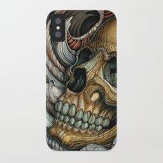 Cave Skull iPhone X Slim Case