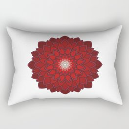 Ornamental round flower decorative element Rectangular Pillow