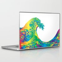 hokusai Laptop & iPad Skins featuring Hokusai Rainbow_A by FACTORIE
