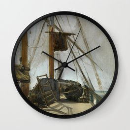 Manet - The ship's deck, 1860 Wall Clock