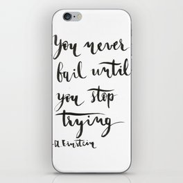 Einstein Calligraphy quote iPhone Skin