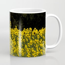 Sunflower Field On A Dark Background #decor #buyart Coffee Mug