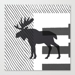 Moose Stamped Canvas Print