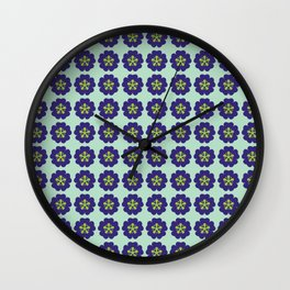 Geometric flower pattern Wall Clock