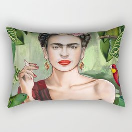 Frida con Amigos Rectangular Pillow