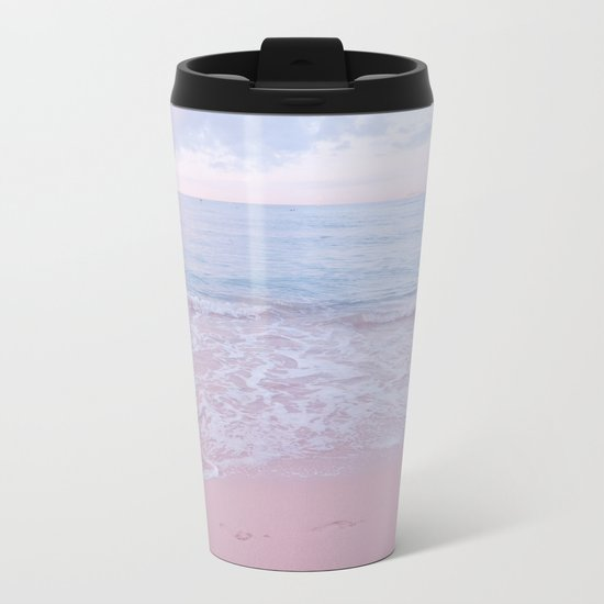 calm day 02 ver.pink Metal Travel Mug