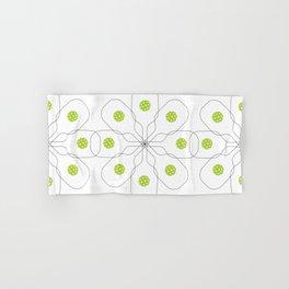Pickleball Paddle Ball Pattern Hand & Bath Towel
