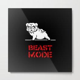 Beast Mode English Bulldog Metal Print