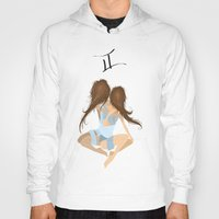 twins Hoodies featuring Twins by Rejdzy