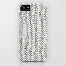 Hand Knit Grey Slim Case iPhone SE