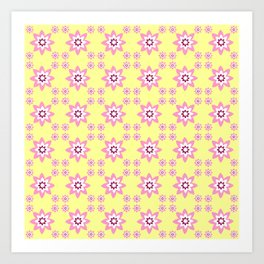 pink and yellow flower 2 Art Print