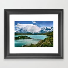 Magestic Landscape #photography #society6 #ocean#mountians Framed Art Print
