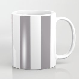 Taupe gray - solid color - white vertical lines pattern Coffee Mug