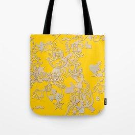 yellow tattoo Tote Bag