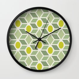 Minimalistic pattern — Olives Wall Clock