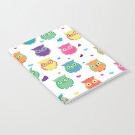 Rainbow Owl Cuties Notebook