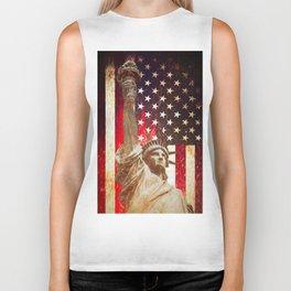 Lady Liberty by Brian Vegas Biker Tank