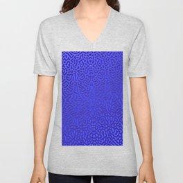 Wet 3D-pattern Unisex V-Neck