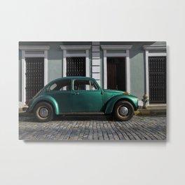 Green old car Metal Print