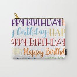 Happy Birthday | Fun & Bright Carry-All Pouch
