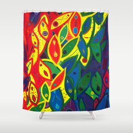 Tribute to the Decendents of the Goddex Kunta (rainbow) Shower Curtain